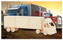 Puzzled, Inc. 3D Natural Wood Puzzle - Semi Truck