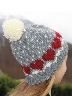 Gold Medal Girls Hat with Fluffy POM-POM in 5 Designs and Colors