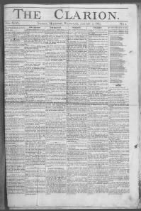 HINDS COUNTY, Mississippi - Jackson - 1883-1888 - The Clarion « Chronicling America « Library of Congress