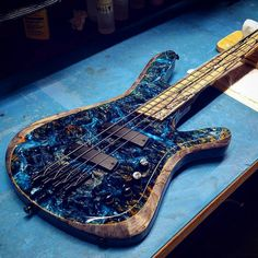 """2,505 Likes, 14 Comments - Kiesel/Carvin Guitars (@kieselcarvinguitars) on Instagram: """"Check out this insane custom top that was done a while back! Tops from @californiawoods are some…"""""""