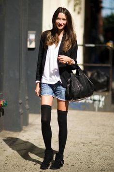 High socks - Low boots