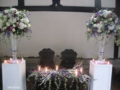 Church flowers top table