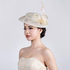 Femme Lin / Filet Casque-Mariage / Occasion spéciale / Décontracté / Extérieur…