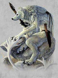 According to Inuit mythology Amaguq is a trickster and wolf god.