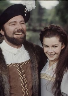 Richard Burton and Genevieve Bujold as Henry VIII and Anne Boleyn- from Anne of a Thousand Days-wonderful movie!!