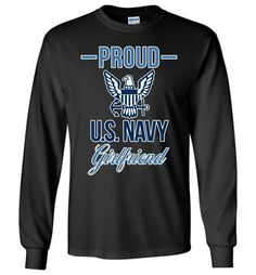 Show your pride with this exclusive DV8s.com design featuring the United States Navy insignia. This long-sleeved tee makes a wonderful gift for Navy girlfriends with a boyfriend serving in the Armed F