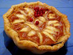 llimaverda: Tarta de manzana integral hojaldrada