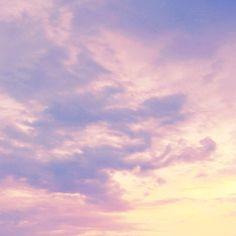 Pastel skies so dreamy