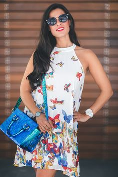 Vestido con mariposas butterfly dress bolso &OtherStories bag zapatos Pura…