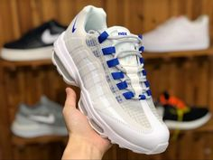 new style 02327 ae648 Chaussures Homme Nike Air Max 95 Ultra SE White Blue Pas Cher AO9566-100-3