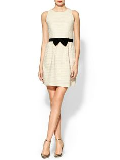 Pim + Larkin Bow Detail Fit N Flare Dress - Cream by: Pim + Larkin @Piperlime®®