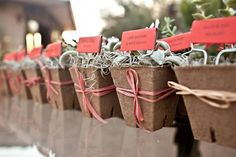 """this Bride and Groom invited guests to """"take a little piece of Arizona home with them."""""""