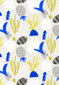 Using primary colours and traditional printmaking techniques, Leeds College of Art graduate Abbey Withington creates colourful and graphic designs, that remind me of Marimekko and all the other Scandinavian designs I'm fond of. She studied on LCA's Printed Textiles & Surface Pattern Design and has already started designing gift cards for Marks and Spencer. This collection consists of wallpapers, hand printed fabrics and artists prints that document the exotic fruits and corals found on…