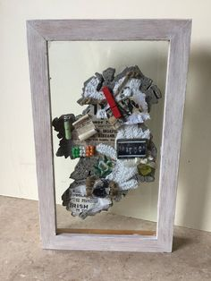 Irish Concrete Mixed Media Plaque #ConcreteMap #MapOfIreland #UniqueIrishGift #Proclamation #1916 #ConcreteGifts #MixedMediaGift #UniqueGift #IrishGift #IrishPlaque