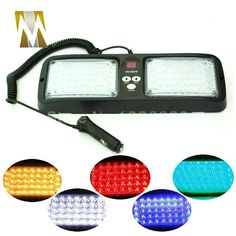 ==> [Free Shipping] Buy Best 86 LED Super Bright Car Truck Visor Strobe Flash Light Panel 2x43 LED 6 Optional Colors Red Blue Amber White Green 12 Modes Online with LOWEST Price | 32591232563
