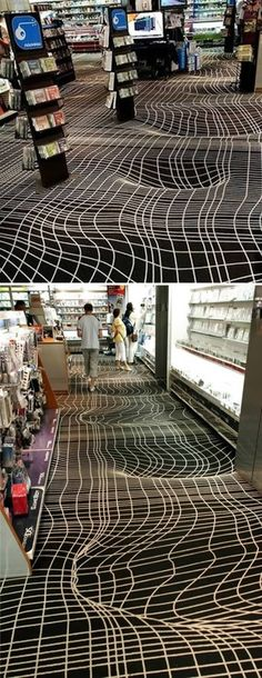 Optical Illusion Floor... i would be on the floor!!!