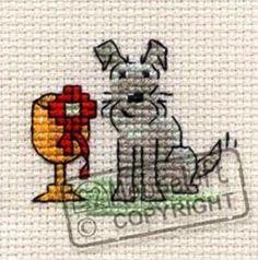 Mouseloft Mini Cross Stitch Kit  - Little Dog - Top Dog #Mouseloft
