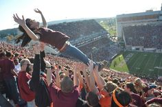 Hokie fans are wild and crazy! Photo from VT Athletics website.
