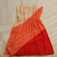 Lush Blouse Dress Carefree orange blouse dress, only worn once! Lush Dresses Mini