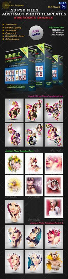 Abstract Photo Templates Bundle