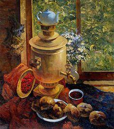 САМОВАРная / осень, цветы, натюрморт, лето, живопись, фрукты, художники
