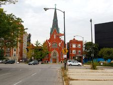 Norwegian Lutheran Memorial Church, 2614 N Kedzie Ave.  The Logan Square stop on the Blue Line.
