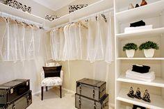 Walk in robe in the Milano display home by McDonald Jones at Gregory Hills. #bedroom #design #luxuryhome #mcdonaldjones