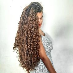 Curly Hair Styles, Natural Hair Styles, Curly Weaves, Hair Color And Cut, Hair Colour, Long Curls, Super Long Hair, Natural Curls, Fall Hair