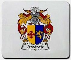 Azcarate Family Shield / Coat of Arms Mouse Pad $11.99