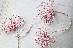 Needle Tatted Flower Garland with Baker's Twine by Jenny Doh