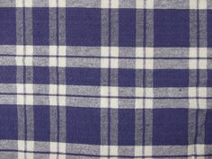 Vintage Blue and White Plaid Simple Picnic Blanket Oval Tablecloth // 68 x 74