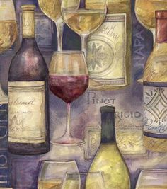 Susan Winget Quilt Fabric- Better With Wine, Wine Bottles & premium quilting fabric at Joann.com