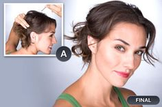 updo for medium to short wavy or curly hair
