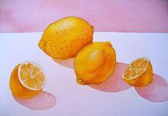 The Painted Prism: WATERCOLOR WORKSHOP: Painting Lemons