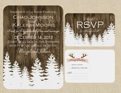 Christmas wedding invitation idea! Love!
