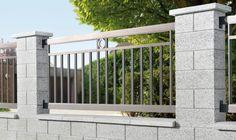 Pergola For Small Backyard Code: 5186898955 House Fence Design, Modern Fence Design, Door Gate Design, Bungalow House Design, Outdoor Doors, Outdoor Walls, Concrete Fence Wall, Boundry Wall, Compound Wall Design