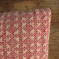 Pure Wool Cushion Fair Isle Orange