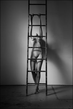"""nielgalen: """" Ladders Model: Astrid Kallsen Photo by: Niel Galen © 2018 - All rights reserved. Ladder Bookcase, Erotic Art, Aesthetic Pictures, Black And White, Model, Photography, John Doe, Home Decor, Ladders"""