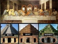 When looking at the entrances to pyramids around the world, and the backdrop of the painting of the Last Supper, there appears to be an eerie correlation! The center door is always largest, flanked by two smaller ones. What could this represent? Ancient Aliens, Ancient History, Orion's Belt, Archaeological Discoveries, Mystery Of History, World Religions, Ancient Mysteries, Album Photo, Ancient Civilizations
