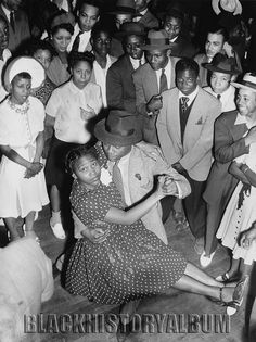 Swing Time | 1938    Negro Nite Life on Central Avenue Series, African American clubgoers with couple dancing in Los Angeles, Calif., 1938. Los Angeles Times photographic archive, UCLA Library. Copyright Regents of the University of California, UCLA Library