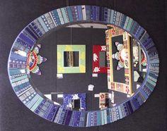 Blue Oval Jewel Mirror