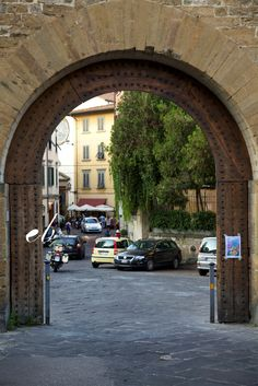 one entrance into the walled city