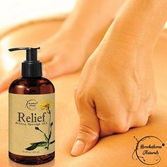 Amazon.com: Relief Arnica Massage Oil – Great for Sports & Athletic Therapeutic Massage – All Natural - Arnica Montana for Sore Muscle Relief. Contains Sweet Almond, Jojoba, Grapeseed & Essential Oils 8.5oz: Health & Personal Care