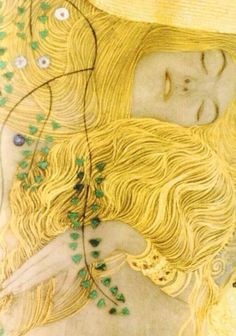 Seductive women, gorgeous patterns, and a warm color palette. Gotta love Klimt!