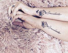 Saudade mother daughter tattoo