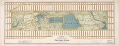 Hinrichs' guide #map of the Central Park. On VintPrint.com. #centralpark #newyork #poster
