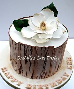 Crackle Effect and Magnolia - Cake by Isabelle's Cake Design ...