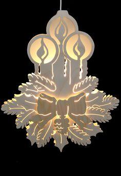 Fensterbild - Drei Kerzen - Durchm. 30,5cm von Michael Müller (Woodworking Cnc)