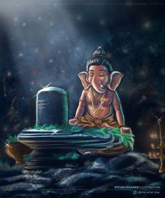Lord Ganesha Paintings, Lord Shiva Painting, Ganesha Art, Ganesha Pictures, Ganesh Images, Mahakal Shiva, Shiva Statue, Shiva Angry, Shiva Sketch