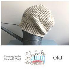 Tunella's Geschenkeallerlei präsentiert: das ist Olaf, eine geniale gehäkelte Haube/Mütze aus einer Baumwolle/Acryl-Mischung - Du kannst dich warm anziehen, dank sorgfältigem Entwurf, liebevoller Handarbeit und deinem fantastischen Geschmack wirst du umwerfend aussehen. #TunellasGeschenkeallerlei #Häkelei #drumherum #Beanie #Haube #Mütze #handgemacht #Geschenk #Olaf